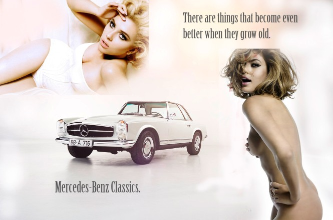 Mercedes-Benz classic cars sketch